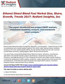 Ethanol Diesel Blend Fuel Market Size, Share, Growth, Trends 2017