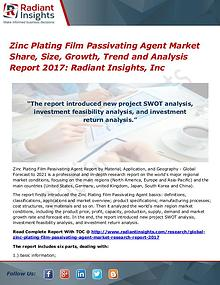 Zinc Plating Film Passivating Agent Market Share, Size, Growth 2017