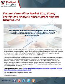 Vacuum Drum Filter Market Size, Share, Growth & Analysis Report 2017