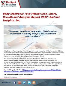 Baby Electronic Toys Market Size, Share, Growth 2017