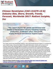 Chinese Naratriptan (CAS 121679-13-8) Industry Size, Share 2017