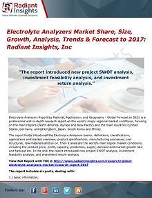 Electrolyte Analyzers Market Share, Size, Growth, Analysis 2017