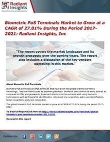 Biometric PoS Terminals Market to Grow at a CAGR of 27.81%