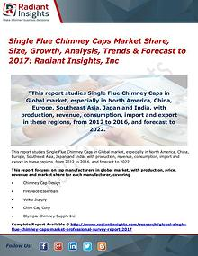 Single Flue Chimney Caps Market Share, Size, Growth, Analysis 2017
