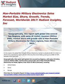 Man-Portable Military Electronics Sales Market Size, Share 2017