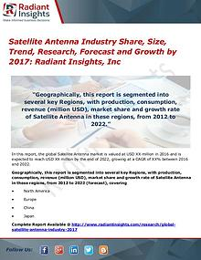 Satellite Antenna Industry Share, Size, Trend, Research, Forecast2017