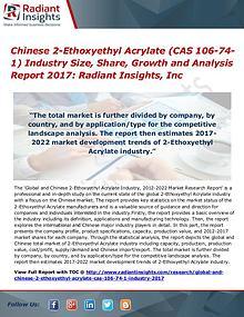 Chinese 2-Ethoxyethyl Acrylate (CAS 106-74-1) Industry Size 2017