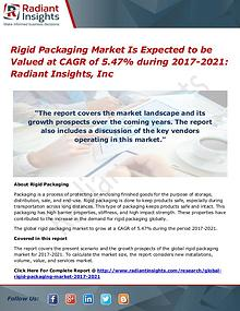 Rigid Packaging Market Is Expected to be Valued at CAGR of 5.47%