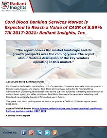 Cord Blood Banking Services Market 2021