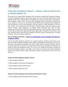 China Hair Straightener Industry Growth Report