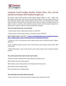 Automatic Goods-Vending Machine Market Share, Size, Growth 2019