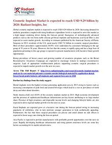Cosmetic Implant Market is expected to reach USD 9.29 billion by 2020