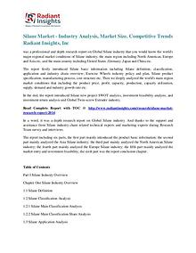Silane Market - Industry Analysis, Market Size, Competitive Trends