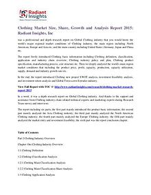 Clothing Market Size, Share, Growth and Analysis Report 2015