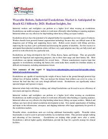 Wearable Robots, Industrial Exoskeletons Market 2021