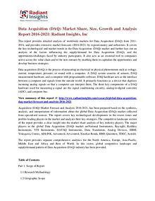 Data Acquisition (DAQ) Market Share, Size, Growth 2021