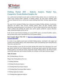 Clothing Market 2015 - Industry Analysis, Market Size
