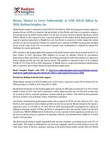 Butane Market to Grow Substantially at USD 203.26 Billion by 2020