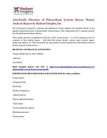 Asia-Pacific Directory of Polyurethane Systems Houses Market