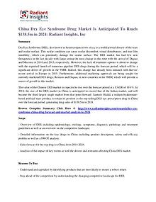 China Dry Eye Syndrome Drug Market Is Anticipated To Reach $138.5m