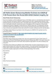 UK Public Sector Outsourcing Market to Grow at a CAGR of 7.91