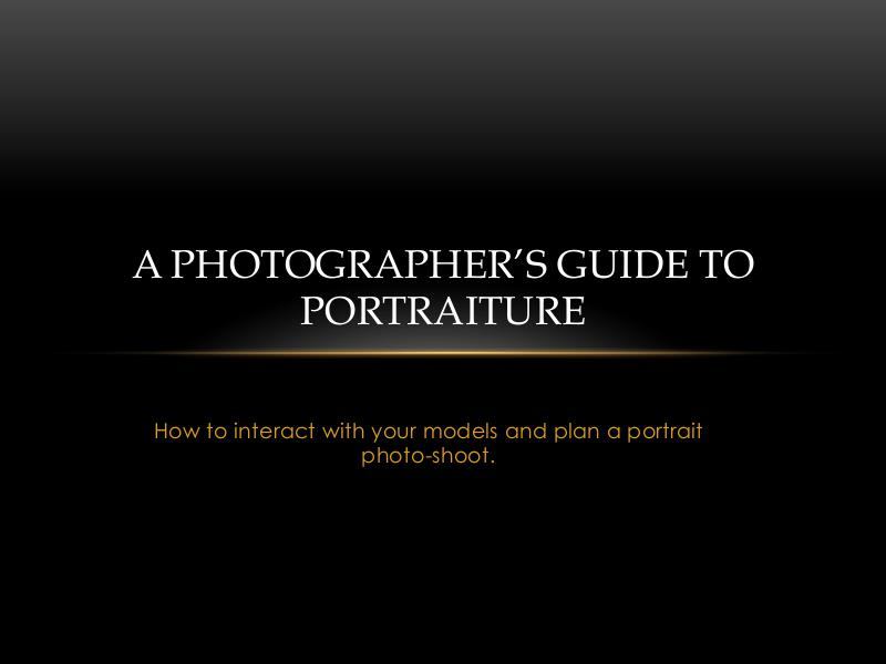 Portraiture for new photographers Portraiture for new photographers