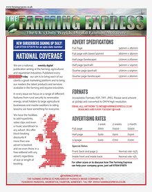The Farming Express- Media Pack 2015
