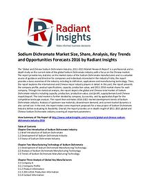 Sodium Dichromate Market Size, Growth, Cost and Price, Analysis 2016