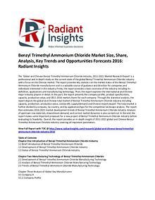Benzyl Trimethyl Ammonium Chloride Market Size, Share 2016