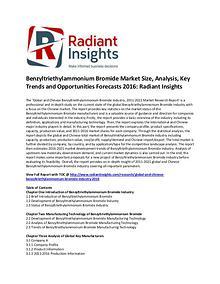 Benzyltriethylammonium Bromide Market Size, Share 2016