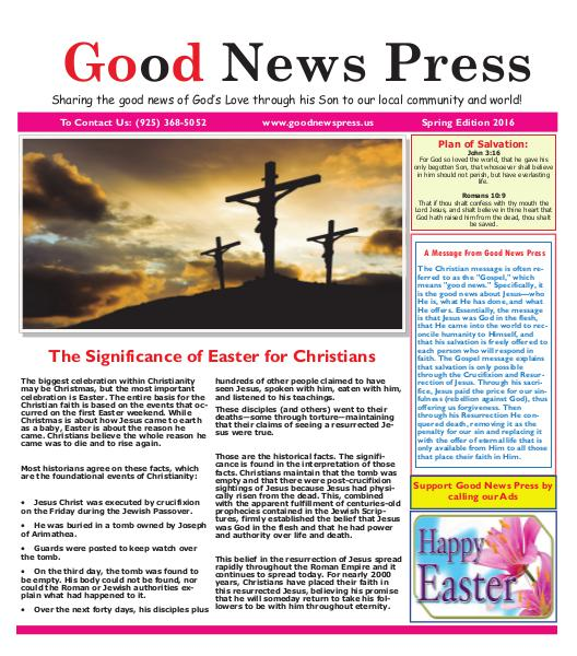Good News Press Spring 2016