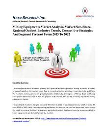 Mining Equipments Market Analysis, Market Size, Share, Regional Outlo