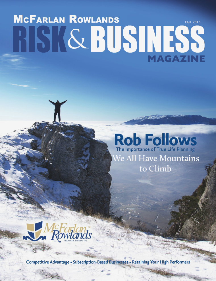 Risk & Business Magazine McFarlan Rowlands Fall 2015