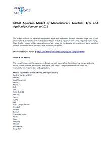 Aquarium Market Research Report Forecasts To 2022