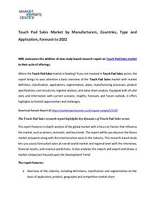 Touch Pad Market Manufacturers, Region, Application  and Forecast