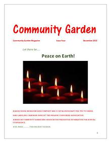 Community Garden Magazine December 2015  Issue Four
