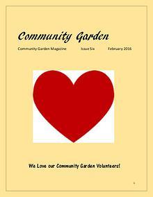 """Community Garden"" Magazine Issue Six February 2016"