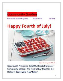 Community Garden       Issue Eleven              July 2016