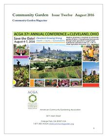 Community Garden   Issue Twelve     August 2016