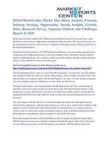Krestin Sales Market Growth Opportunities & Restraints to 2021