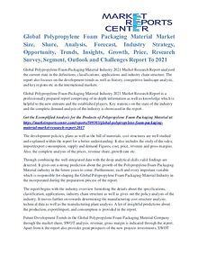 Polypropylene Foam Packaging Material Market Business Outlook To 2021