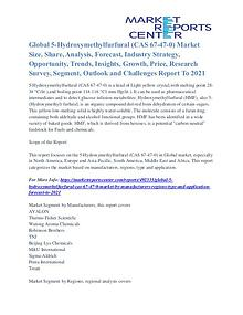 5-Hydroxymethylfurfural (CAS 67-47-0) Market Opportunities Till 2021