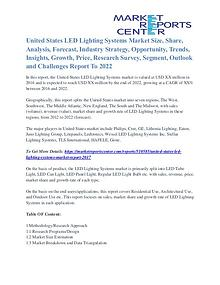 United States LED Lighting Systems Market Opportunity Till 2022