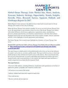 Ozone Therapy Units Market Competitive Analysis By 2017