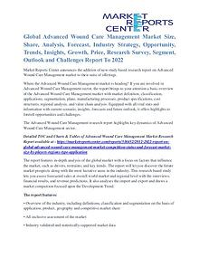 Advanced Wound Care Management Market Application, Price Trends 2022