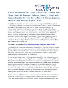 Pharmaceutical Grade Fulvic Acid Market Growth And Trends To 2017