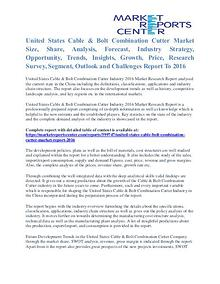 United States Cable & Bolt Combination Cutter Market Size Report 2016