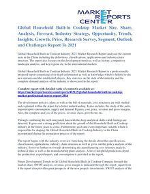 Household Built-In Cooktop Market Price & Gross Margin Analysis 2021