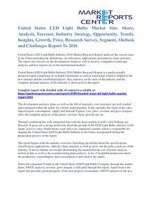 United States LED Light Bulbs Market Size Report To 2016