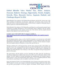 Bileaflet Valve Market Size, Share, Growth, Trends and Forecast 2016